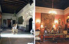 Esta casa palacio de 9.452 metros,coronada por el escudo de los Alva (XVII)pintado sobre azulejo.