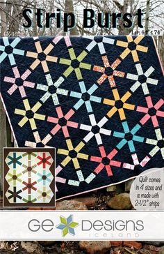 Strip Burst Quilt pattern jelly roll