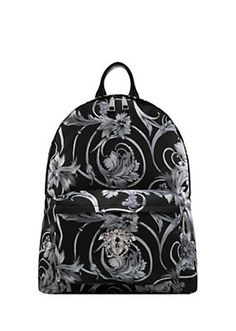 882d6b427953 Versace - Barocco Printed Palazzo Backpack Versace Mens Shoes