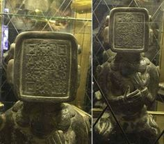 Ancient Mayan Statue Has QR Code On It's Face. Aliens Warning Us?