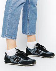 New Balance 410 Black Print Sneakers