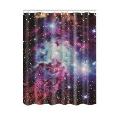 Cool Shining Stars Space Universe Customize Design Bath Waterproof Shower Curtain Bathroom Curtains