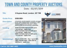 Town and County Property Auctions Date - Call Us: 020 3889 4403 Available Real Estate Uk, Second Floor, Ground Floor, Auction, Dating, London, Quotes