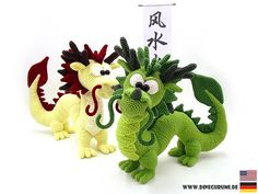 Dragon Long crochet pattern amigurumi
