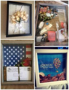 I love the idea for the love letters - it would be a great way to display my grandfathers letters to my grandmother! shadow-box-diy-ideas