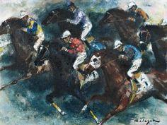 HOLESCH DÉNES (1910-1983) - Lóverseny