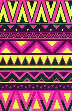 Hippie Chic Pattern Art Print