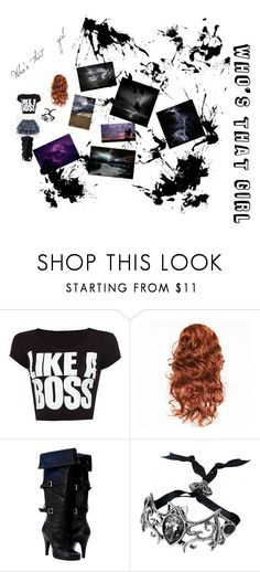 """""""Who's that girl"""" by meyou-ii ❤ liked on Polyvore featuring WearAll and INDIE HAIR"""