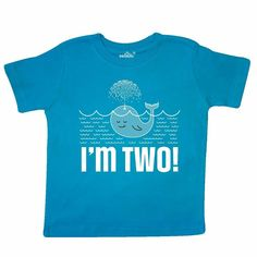 1ed6bbe99336 Inktastic 2nd Birthday Whale Party Fish Toddler T-Shirt Im Boys Girls  Childs Kid #