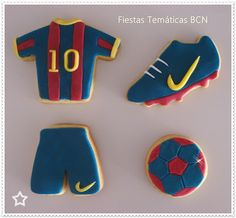 QUIEN DICE YO? Messi Birthday, Soccer Birthday Parties, Football Birthday, Barcelona Soccer Party, Barcelona Cake, Paris San German, Fondant Cupcakes, Cupcake Cakes, Football Cupcakes