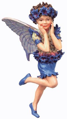 Cicely Mary Barker Fairy Cornflower. $14.99 Click here to purchase --> http://www.bakersvillagegardencenter.com/item_251/Cicely-Mary-Barker-Fairy-Cornflower.htm Flower Fairies are tiny creatures that live in the tree tops, marshes, forest floor, wayside and gardens. Each Flower Fairy lives and sleeps in their chosen flower, plant or tree. Every Fairy is in charge of looking after their flower by making sure it has plenty of sunshine and water.
