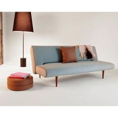 Unfurl Sofa Bed, 552 Soft Pacific Pearl Fabric by Innovation Living Furniture Ikea Patio Furniture, Adams Furniture, Living Furniture, Multifunctional Furniture, Steel Furniture, Space Furniture, Modern Furniture, Furniture Design, Modern Sleeper Sofa