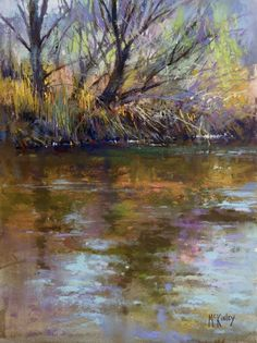 River Dance by Richard McKinley  pastel painting