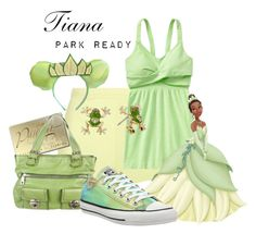 """""""Tiana: Park Ready"""" by laniocracy on Polyvore featuring T By Alexander Wang, Athleta, Disney, Marc Jacobs, Betsey Johnson, Converse and disneyland"""