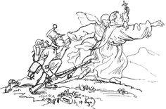 Abb.: Martin Disteli (1802 - 1844): Im Aargau werden die Klöster aufgehoben. Mönche und Nonnen ziehen aus. -- In: Disteli-Kalender. --1842