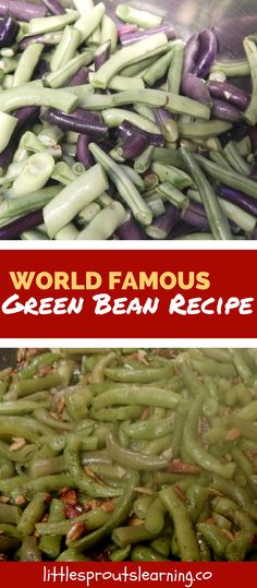 My daycare kids LOVE my world famous green bean recipe. They dubbed them world famous and who am I to argue with that? I love cooking real food for my kids.