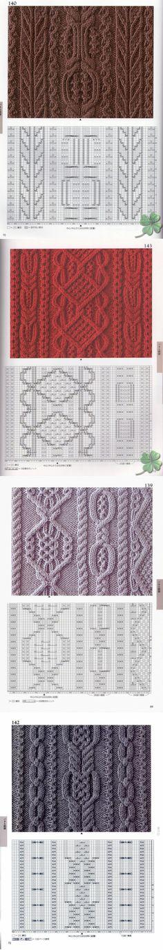 Японские узоры для спиц и схемы №3 - Модное вязание