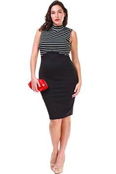 High Neck Retro Style Sleeveless Dress.