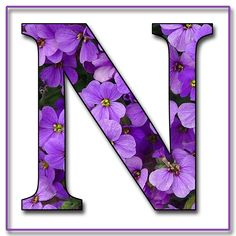 "GRANNY ENCHANTED'S FREE DIGITAL SCRAPBOOK KITS: ""Purple Flowers"" Free Scrapbook Alphabet Letters in JPG & PNG"