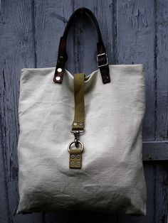 Tote bag made from vintage European army gear