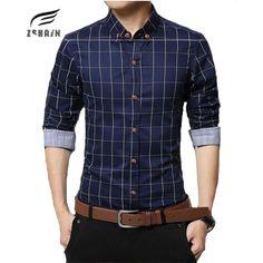 >> Click to Buy << 2017 New Winter Brand 100% Cotton Plaid Shirt Men Casual Shirts Fashion Dress Shirt  Multi-Color Large Size Men Shirt Social 5XL #Affiliate