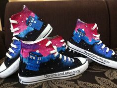 77d878238238 Doctor Who Shoes Converse painted shoes