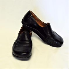 fa6131630 Earth Womens Loafer Shoes Size 7 M Shake Black Leather for sale online |  eBay