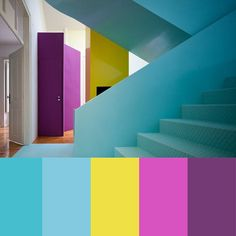 A colorful house in Torres Vedras, Portugal, designed by Portuguese architect and designer Pedro Gadanho.