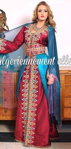 Algerian Fashion: Berber caftan dress