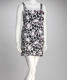 Hello Kitty Black & White Cheetah Kitty Cover-Up - Women by Hello Kitty Collection on #zulily today!