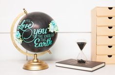 Love you earth globe made with Cricut Vinyl. Make It Now with the Cricut Explore machine in Cricut Design Space.