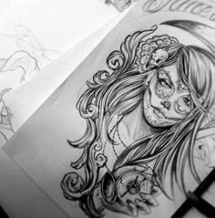 Dia de los muertos #tattoo #drawing #inspiration
