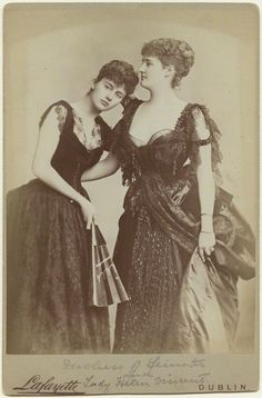 Helen (née Duncombe), Viscountess D'Abernon; Hermione (née Duncombe), Duchess of Leinster by Lafayette (Lafayette Ltd) albumen cabinet card, 1888 5 5/8 in. x 4 1/8 in. (144 mm x 104 mm) image size Purchased, 1997 NPG x87002
