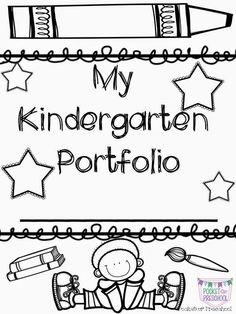 Portfolio covers for student portfolios. Pocket of Preschool