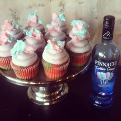 cotton candy cupcakes pinnacle vodka cotton candy infused booze cake