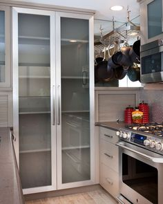 Luxury Smoked Glass Cabinet Doors