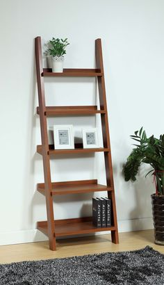 ID USA Furniture Distributor #14937 Ladder Bookcase features the ladder design with five shelves of different sizes. #IDUSA #IDUSAfurniture