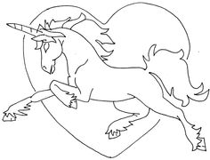 Unicorn embroidery pattern