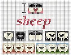 Схемы вязания овечек