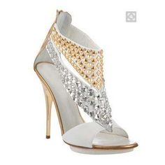 Celebrities who wear, use, or own Giuseppe Zanotti White and Gold Studded Sandals. Also discover the movies, TV shows, and events associated with Giuseppe Zanotti White and Gold Studded Sandals. Stilettos, Stiletto Heels, High Heels, Pumps, Zapatos Shoes, Shoes Heels, Shoe Boots, Ankle Boots, Giuseppe Zanotti Heels
