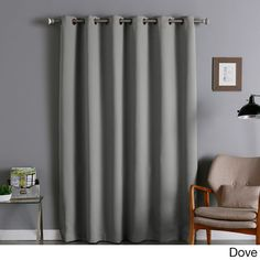 Aurora Home Wide Thermal Blackout Curtain Panel (Dove), Grey, Size 80 x 95 (Polyester, Solid)