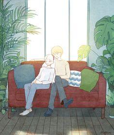 9번째 이미지 Cute Couple Cartoon, Cute Couple Art, Aesthetic Art, Aesthetic Anime, Cute Drawings, Cartoon Drawings, Korean Art, Anime Scenery, Cute Illustration
