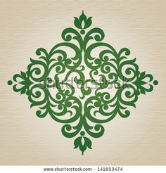 Vector ornate ornament in Victorian style. Element for design. It can be used for decorating of invitations, cards, decoration for bags and clothes, at tattoo creation.