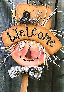 Fall Wood Patterns | 200036 Fall plant poke (3)-Scarecrow yard sign, wood crafts, wood ...