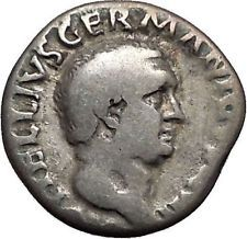 VITELLIUS 69AD Rome Authentic Ancient SIlver Roman Coin Clasped Hands i56135