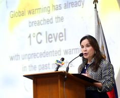 """Legarda Renews Call to Limit Global Warming to 1.5°C, Urges LGUs to Adopt Goal  """"The Senator explained that the Philippines led the call for the 1.5°C limit on behalf of more than 40 developing countries of the Climate Vulnerable Forum (CVF). """"The 1.5°C limit is part of our call for climate justice."""""""" 