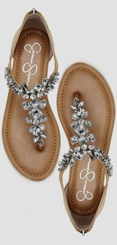 9afb5138341617 Jeweled Summer Sandals ❤ cUte For A Beach Wedding Beach Fashion