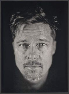photorealistic paintings by Chuck Close Chuck Close - Brad Pitt portrait *FYI Chuck Close is on exhibit at the Oklahoma City Museum of Art! Close - Brad Pitt portrait *FYI Chuck Close is on exhibit at the Oklahoma City Museum of Art! Famous Portrait Photographers, Famous Portraits, Celebrity Portraits, Chuck Close Portraits, Brad Pitt Photos, Wow Photo, No Photoshop, Famous Faces, Belle Photo
