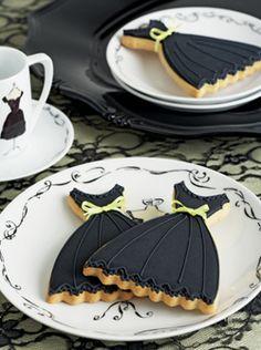 little black dress cookies