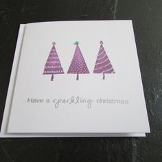 Loving my new purple Christmas Tree Cards (Pack of 5 by acardtosay on Etsy, £3.50)